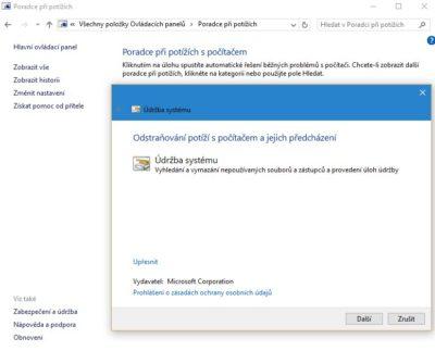 Jak zrychlit Windows 10 - optimalizace windows 10 - údržba systému