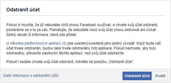 Jak smazat účet na Facebooku