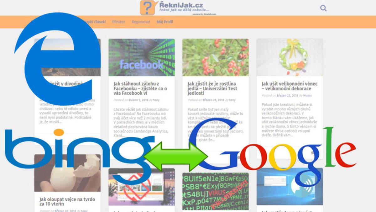 Jak nastavit google jako výchozí vyhledávač v Microsoft Edge