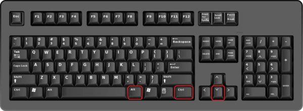 Jak provést otočení obrazovky použitím klávesové zkratky