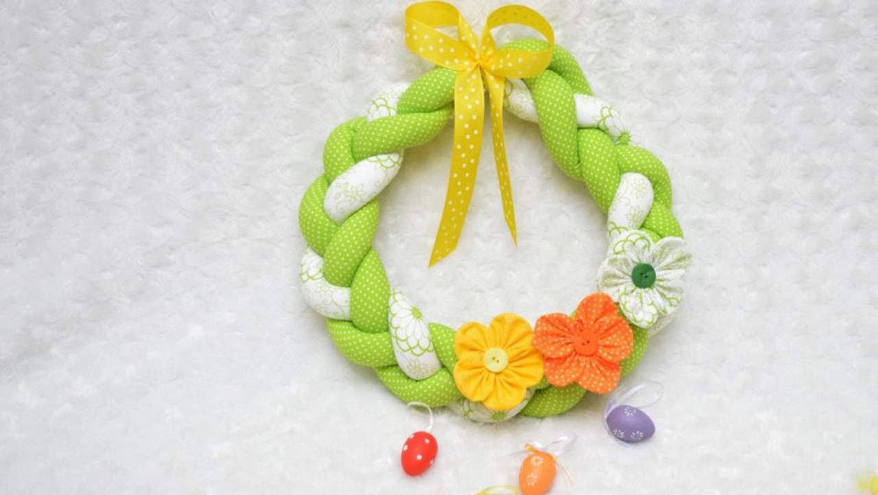 Jak ušít velikonoční věnec - velikonoční dekorace