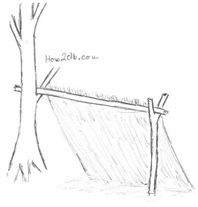 Jak přežít v divočině - úkryt z větví