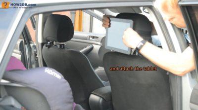 Jak vyrobit držák tabletu na opěrku hlavy do auta