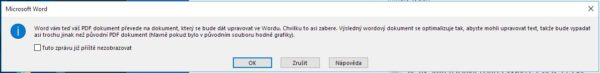Jak editovat PDF dokument ve Wordu