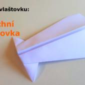 Kachní vlaštovka - Jak složit vlaštovku z papíru