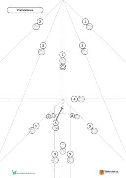 Ptačí vlaštovka - skládací vzor
