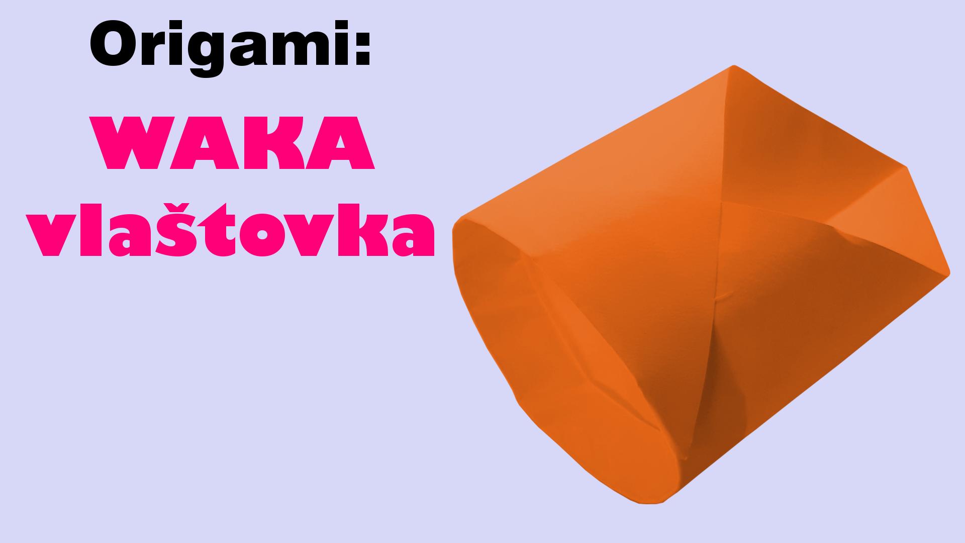 Trubková vlaštovka - jak vyrobit waka papírovou vlaštovku