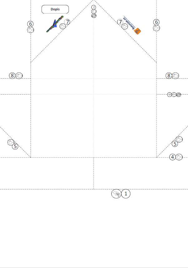 dopisní obálka z papíru - origami skládací vzor - náhled