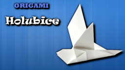 Holubice - jak složit origami holubici z papíru