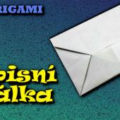 Obálka z papíru - jak vytvořit dopisní obálku z papíru