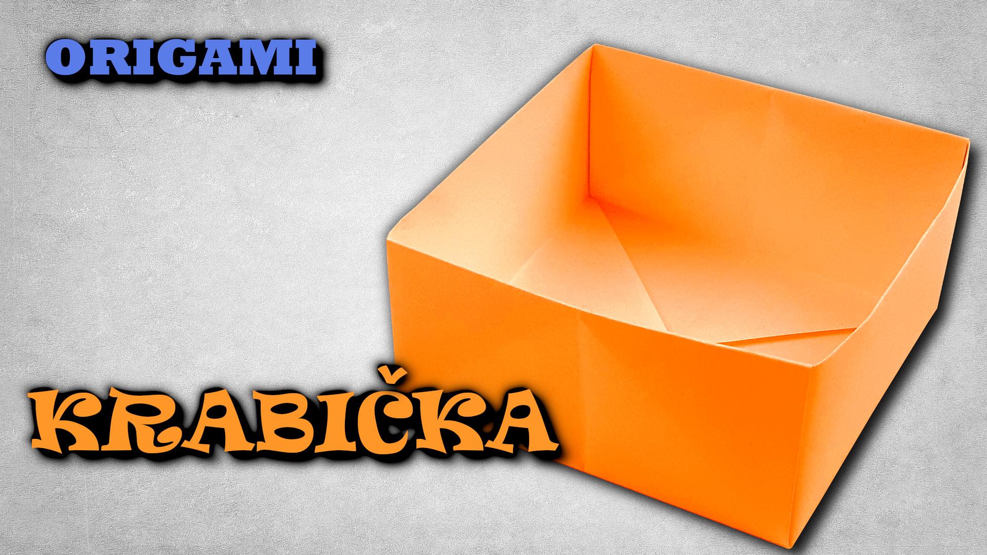 Origami krabička z papíru - jak složit krabičku z papíru A4