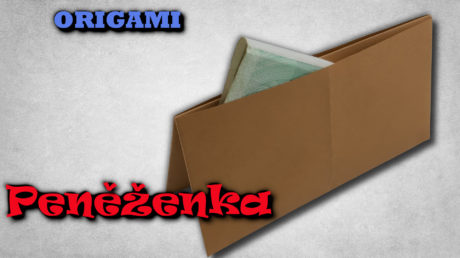 Peněženka z papíru - jak složit origami peněženku
