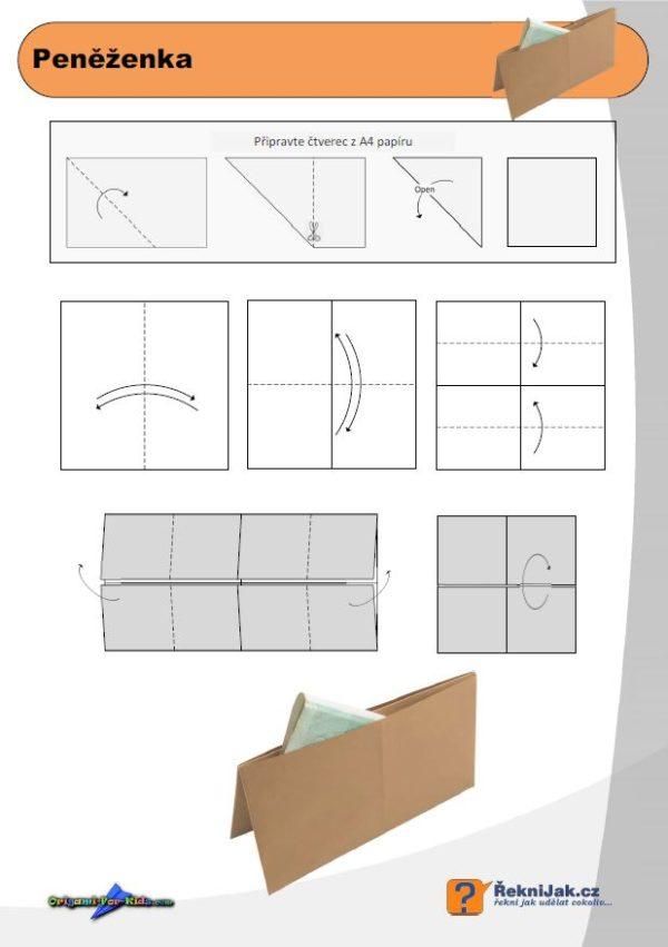 penezenka origami diagram nahled