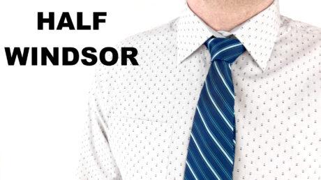 Jak se váže kravata - poloviční Windsor uzel