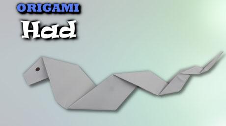 Origami Had | Jak vyrobit hada z papíru