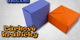 Dárkové krabičky z papíru - origami krabička z jednoho kusu papíru