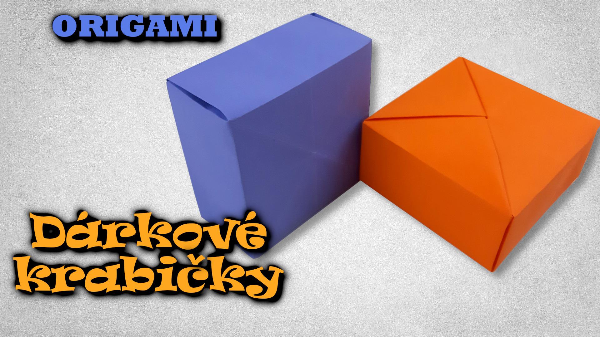 Dárkové Krabičky z papíru | Origami krabička z jednoho kusu papíru