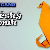 Origami mořský koník | Jak složit mořského koníka z papíru