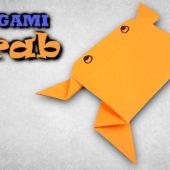 origami krab - jak vyrobit kraba z papíru