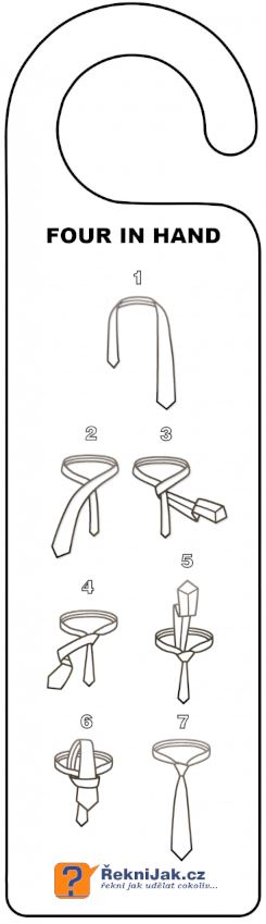 Jak se vaze kravata four in hand do skrine nahled