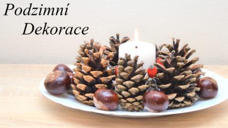 Jednoduchá podzimní dekorace z šišek
