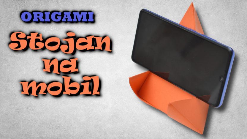 Stojan na mobil z papíru | origami držák na mobil