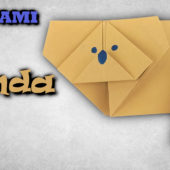 Origami panda | Jak složit pandu červenou z papíru