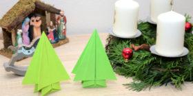 Origami stromeček | Jak vyrobit vánoční stromek z papíru